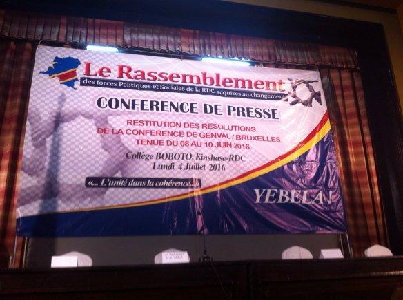 RASSEMBLEMENT CONFERENCE DE PRESSE