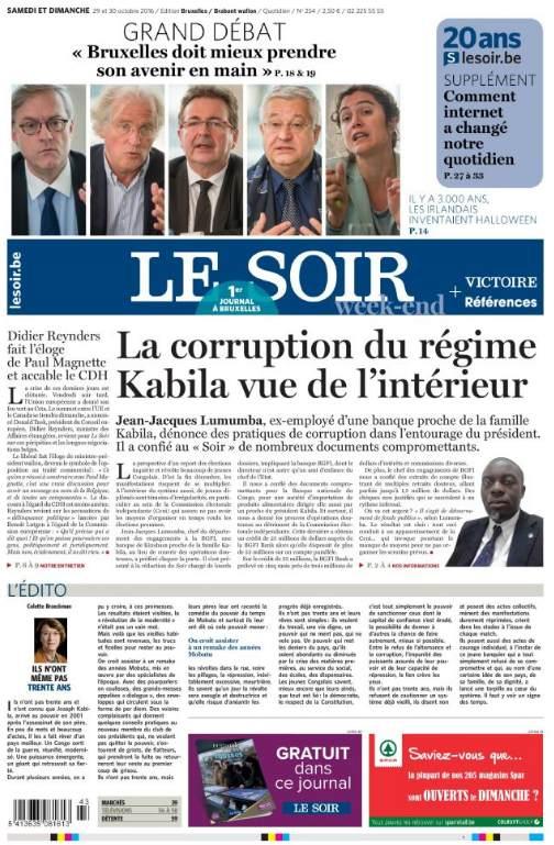 CORRUPTION REGIME KABILA LE SOIR 291016.jpg